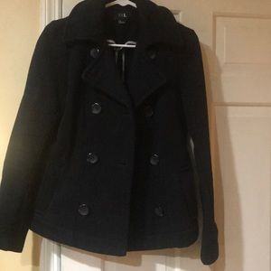Forever 21 black pea coat S
